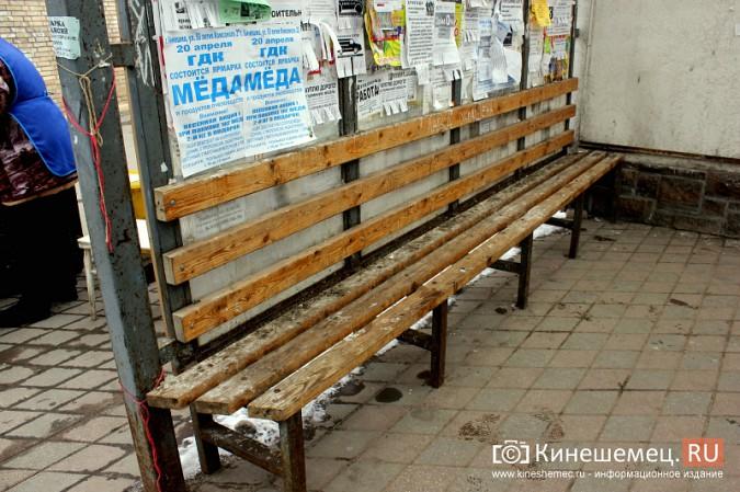 Остановочный павильон в центре Кинешмы загадили голуби фото 3