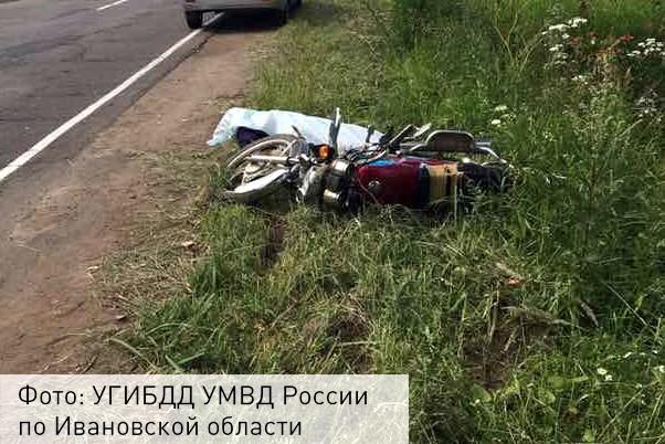 ВИвановской области мужчина скончался вовремя управления мопедом